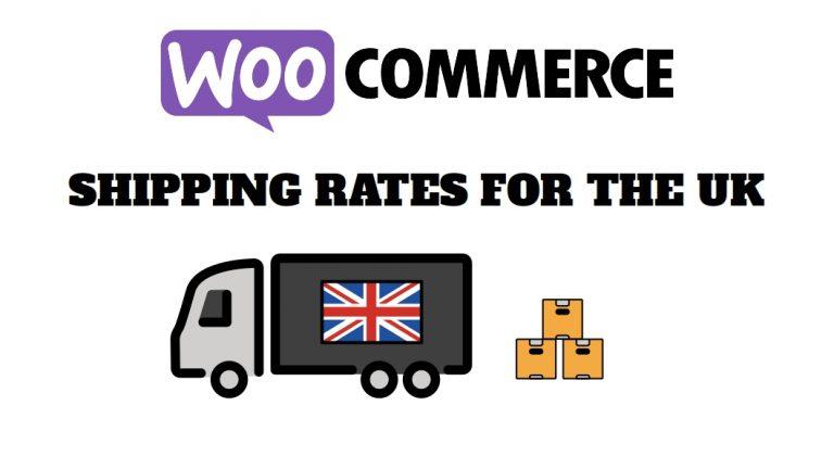 Woocommerce UK shipping zones
